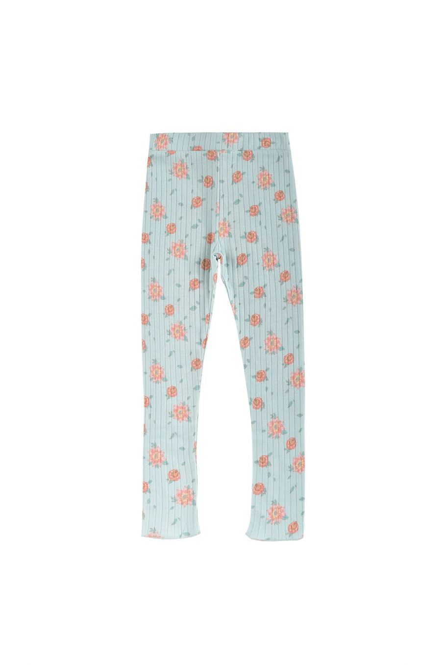 boheme chic vintage leggings fille anandou vintage blue flowers