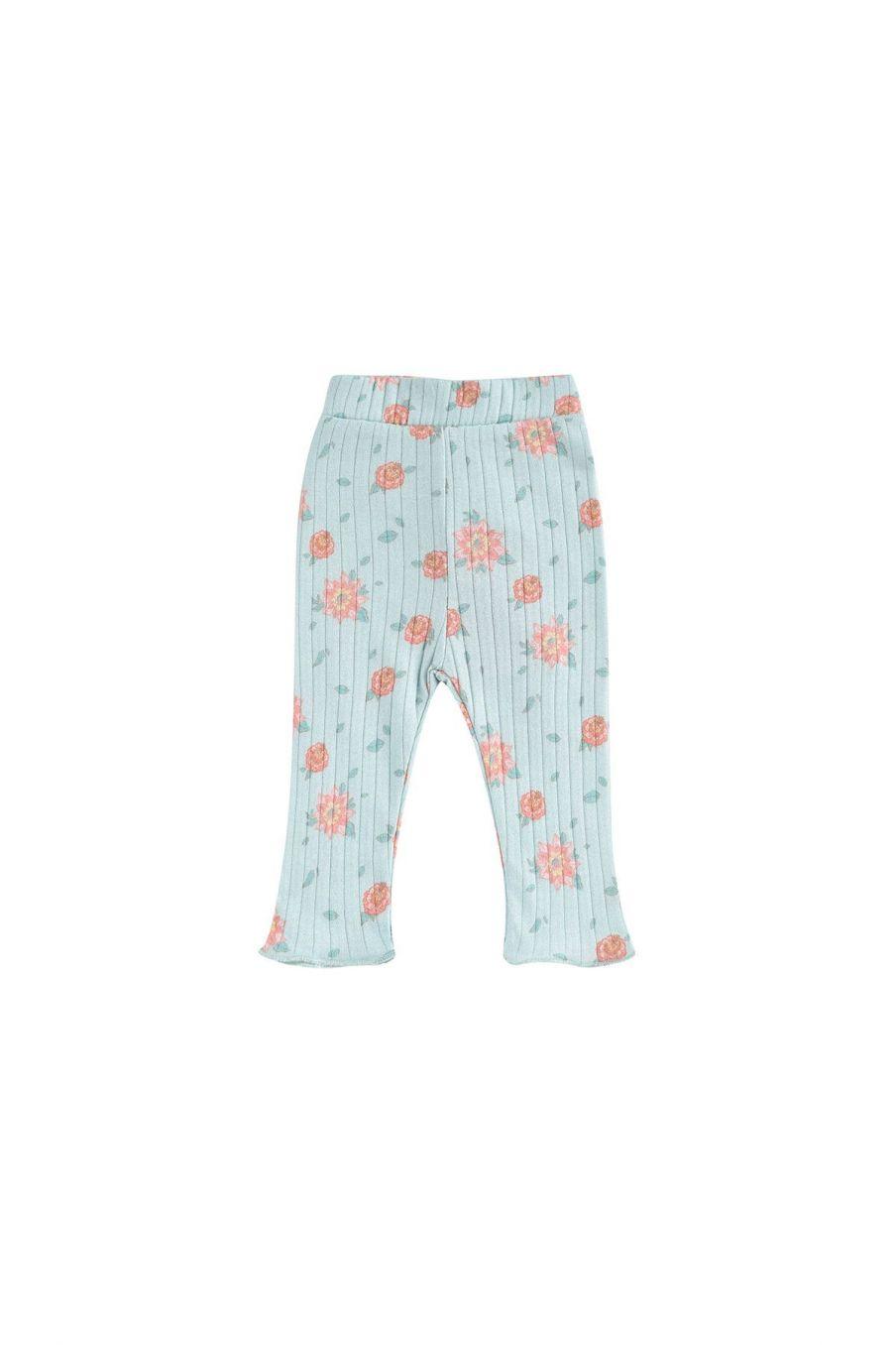 boheme chic vintage leggings bébé fille anandou vintage blue flowers