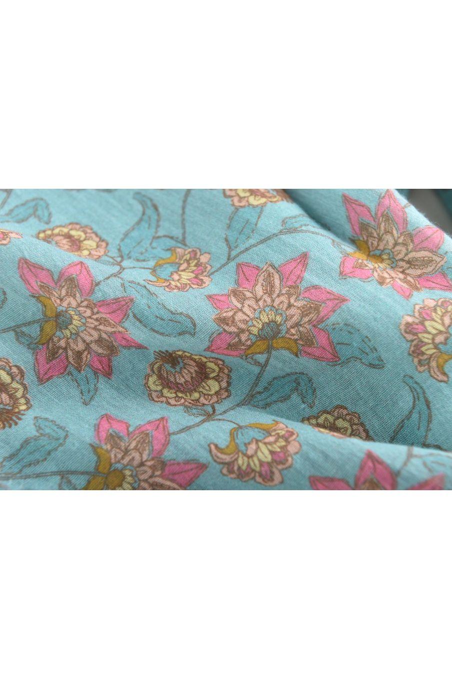 boheme chic vintage salopette fille talia turquoise flowers