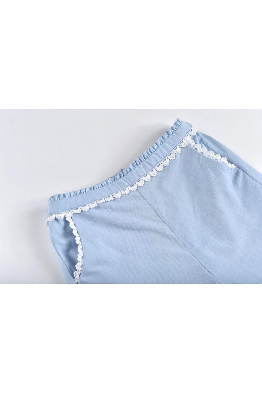 boheme chic vintage pantalon fille solena chambray