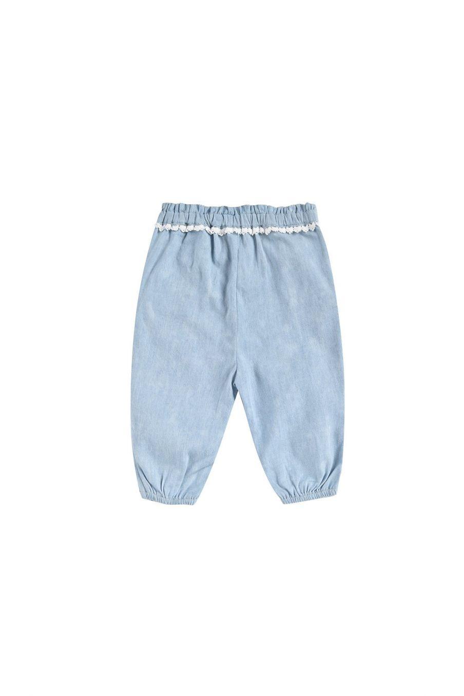 boheme chic vintage pantalon bébé fille solena chambray