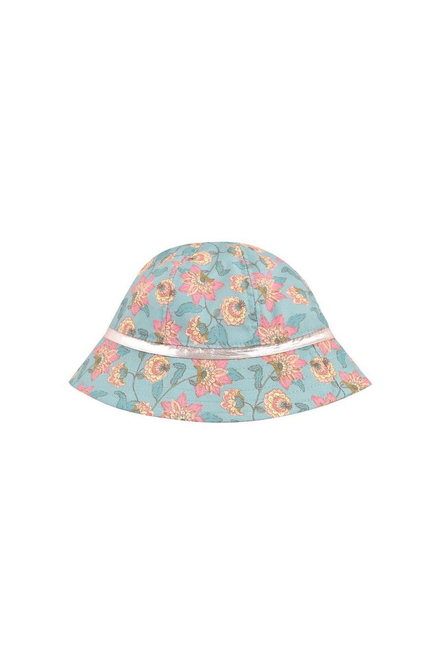 boheme chic vintage chapeau bébé fille granima turquoise flowers
