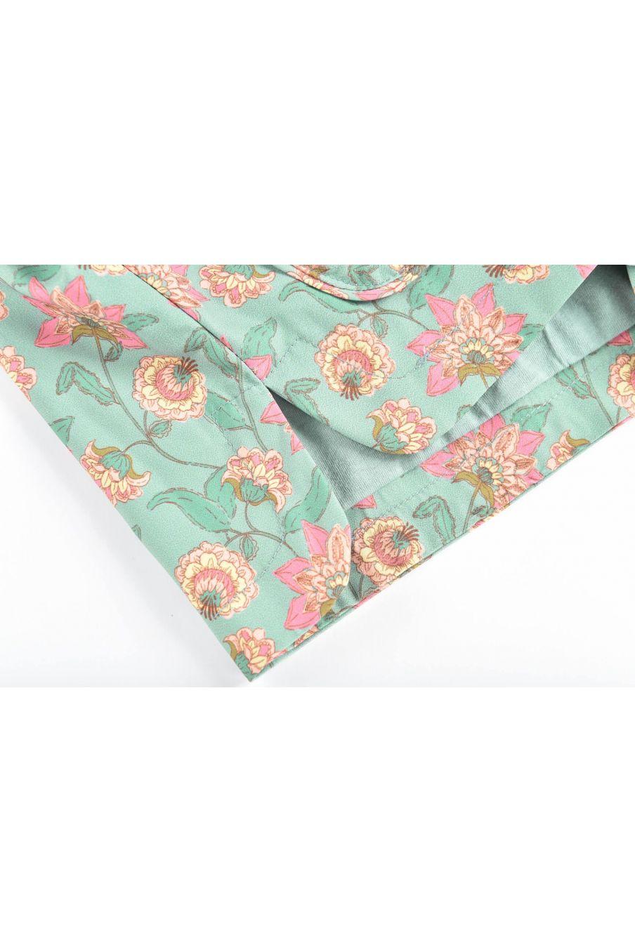 boheme chic vintage imperméable fille manoukia turquoise flowers
