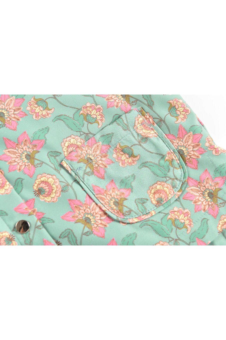 boheme chic vintage imperméable bébé fille manoukia turquoise flowers