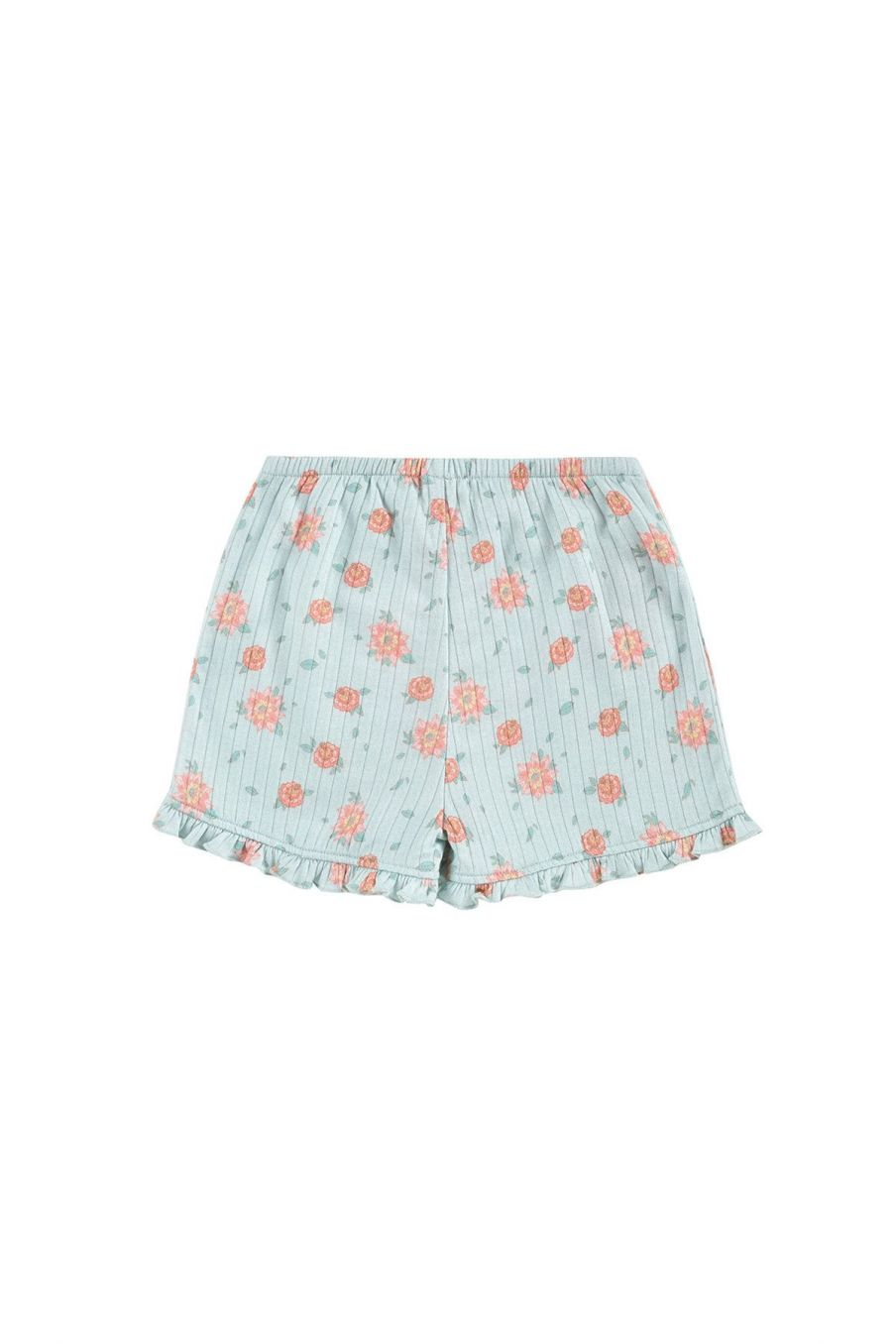 boheme chic vintage short fille anchi vintage blue flowers