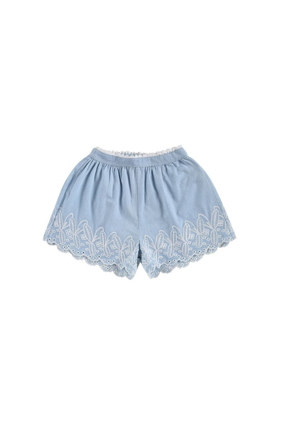 boheme chic vintage short fille luisa chambray
