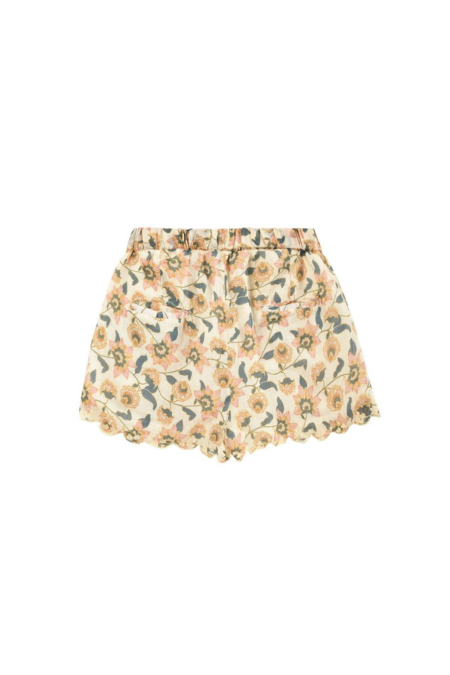 boheme chic vintage short fille vallaloid cream flowers