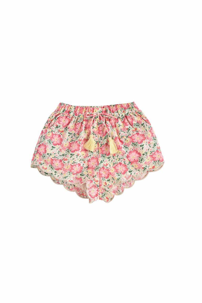 boheme chic vintage short bébé fille vallaloid pink meadow