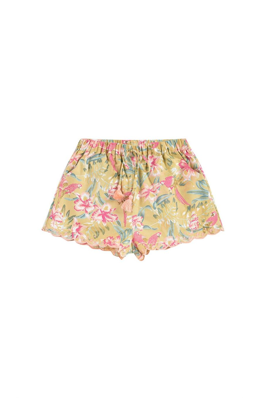 boheme chic vintage short fille vallaloid soft honey parrots