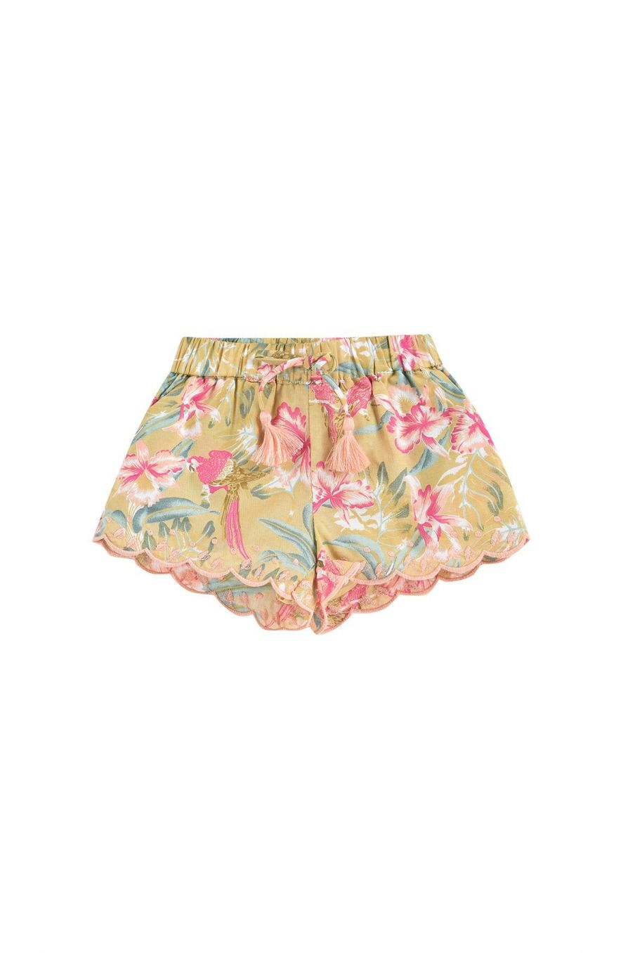 boheme chic vintage short bébé fille vallaloid soft honey parrots