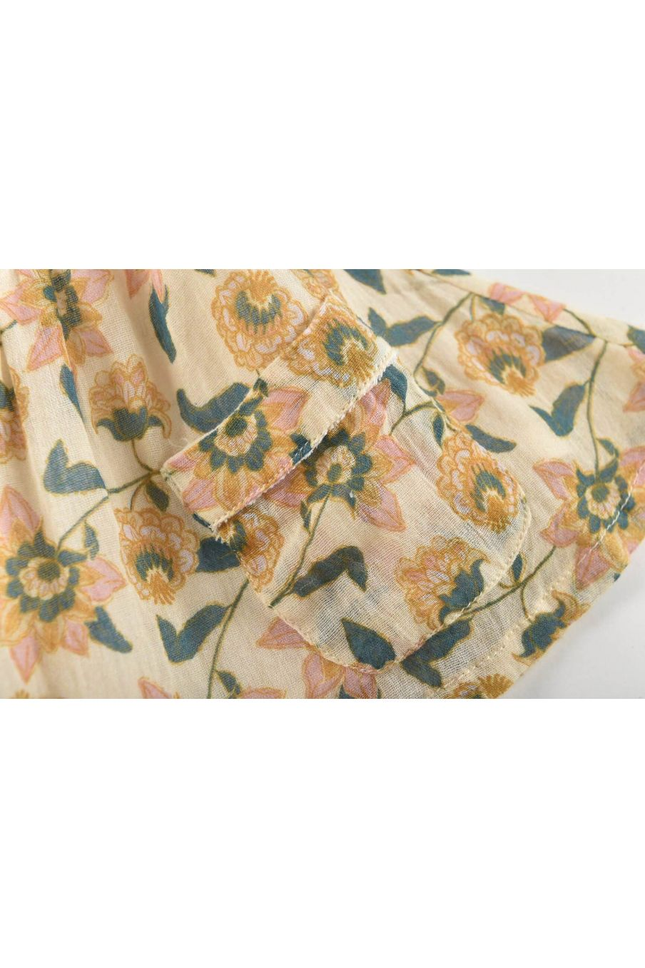 boheme chic vintage jupe fille dollina cream flowers