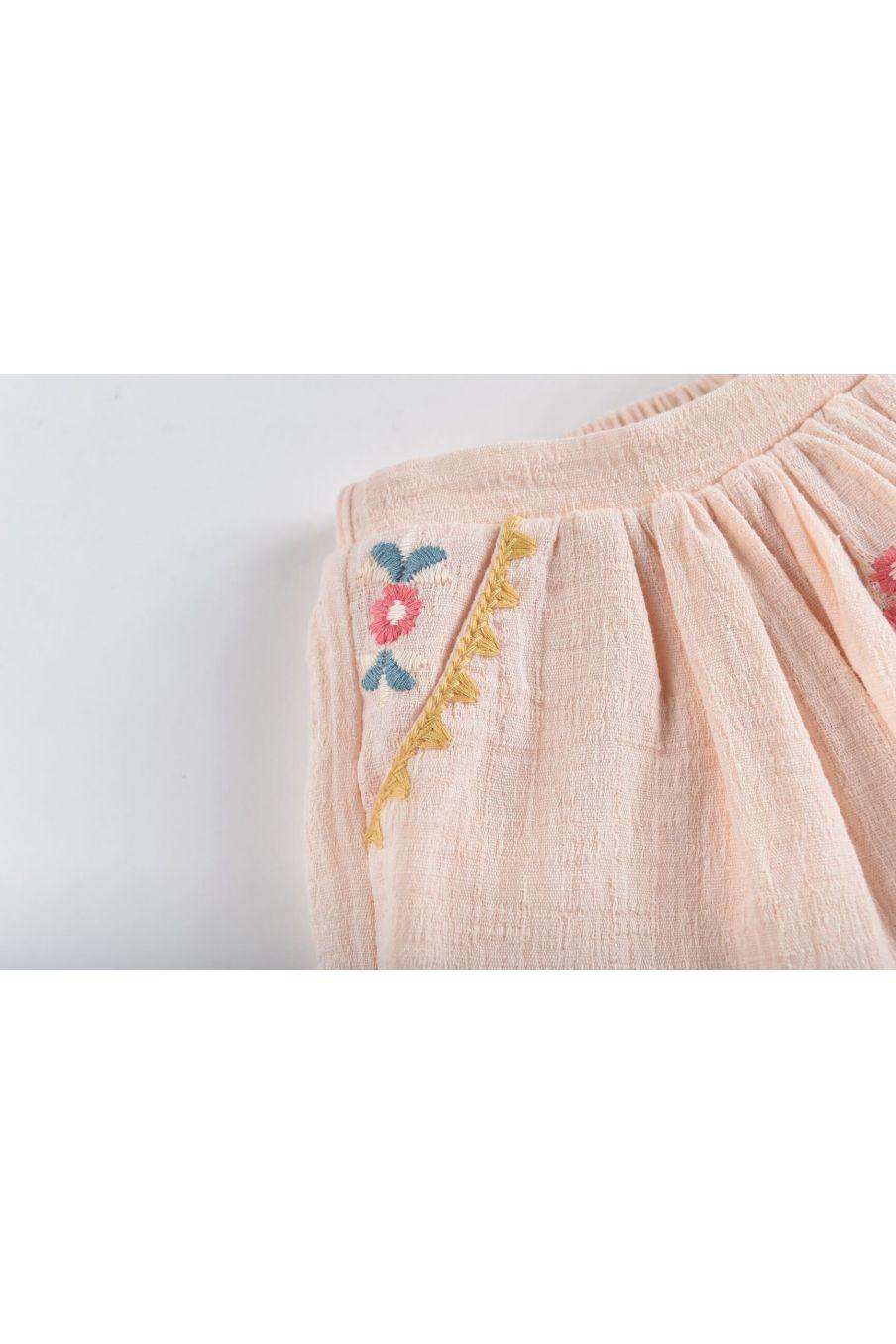 boheme chic vintage jupe bébé fille riola blush