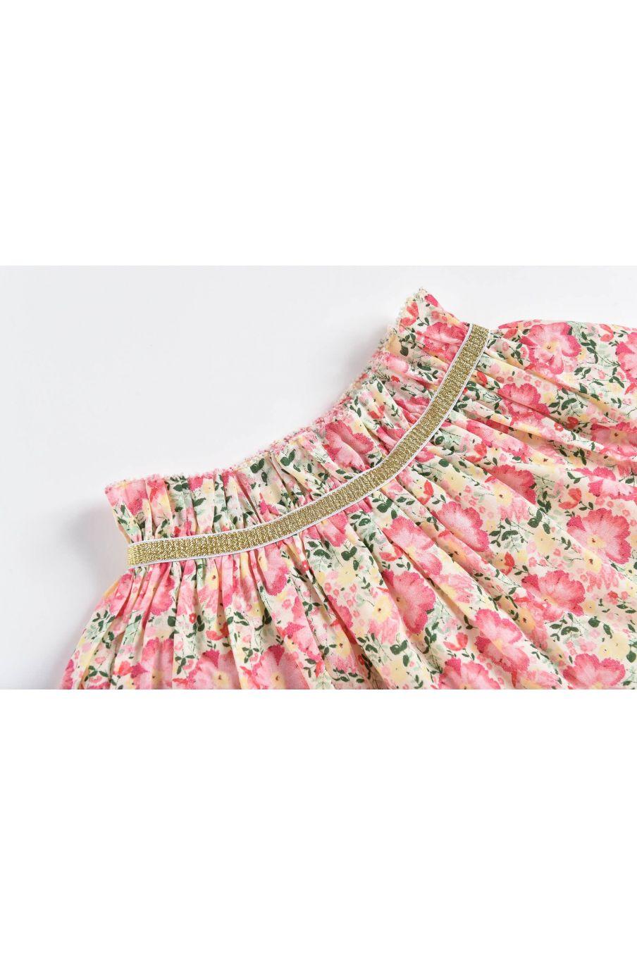 boheme chic vintage jupe bébé fille salina pink meadow