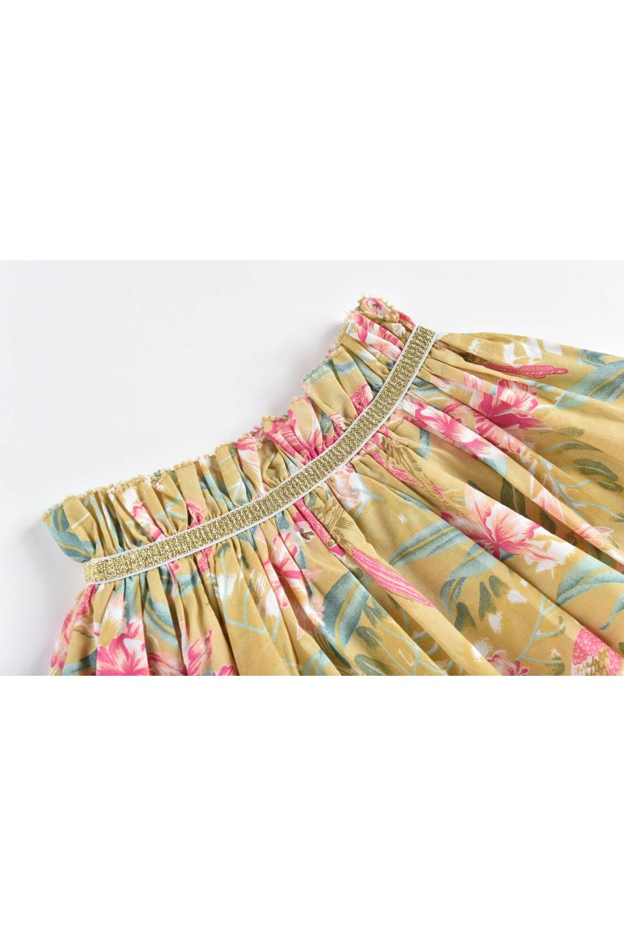 boheme chic vintage jupe fille salina soft honey parrots
