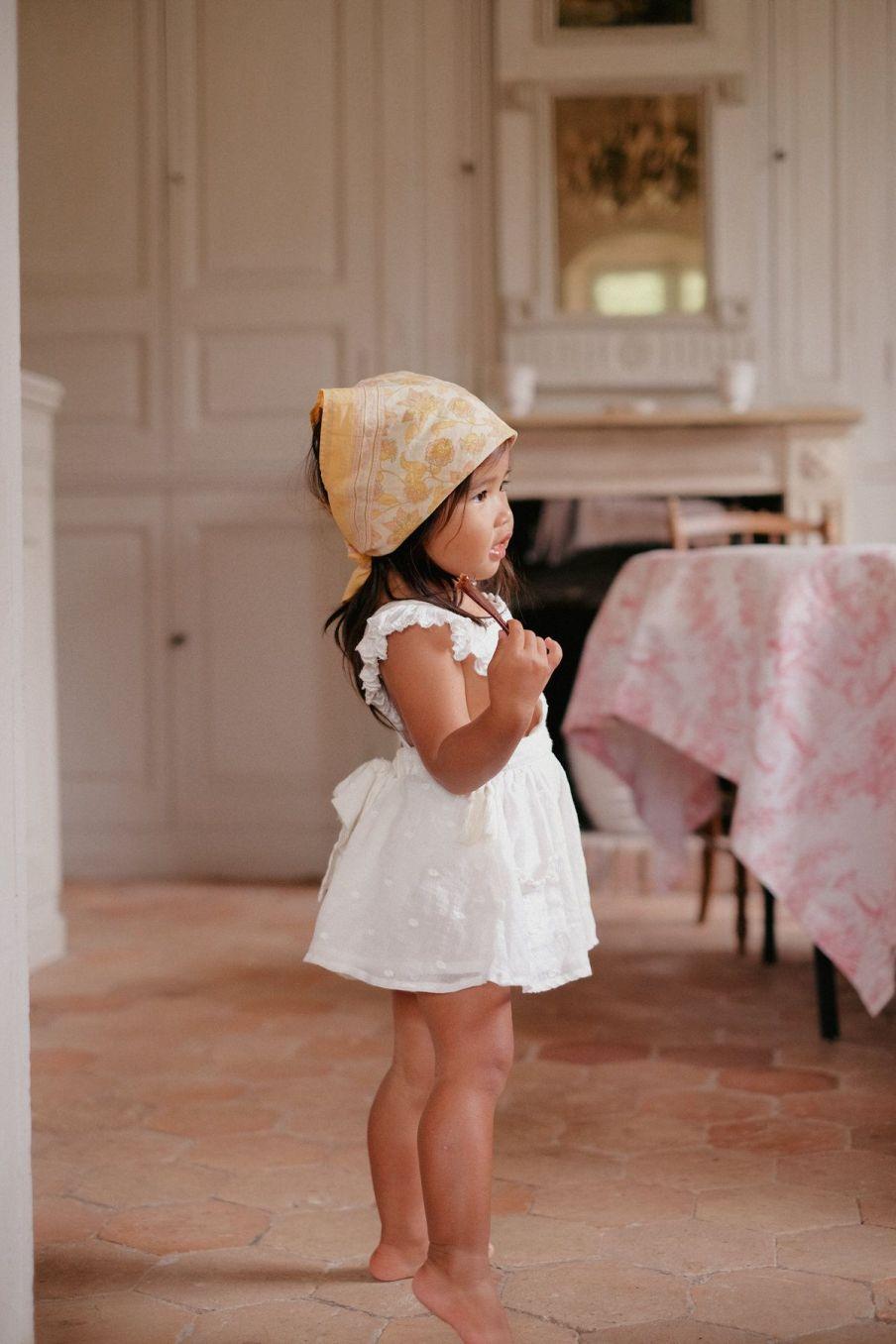 boheme chic vintage petit foulard fille rebha blush flowers