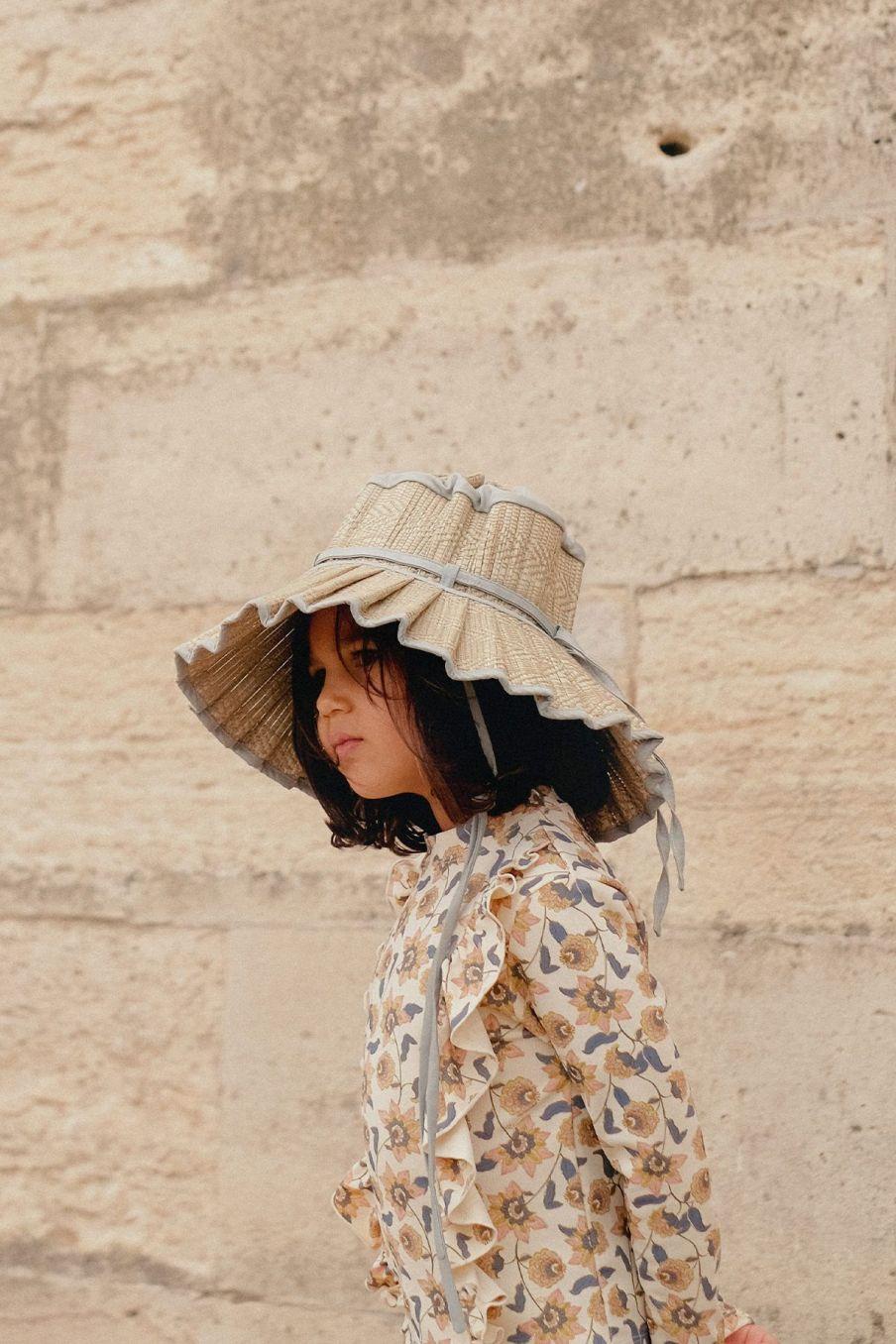 boheme chic vintage chapeau fille capri sea foam