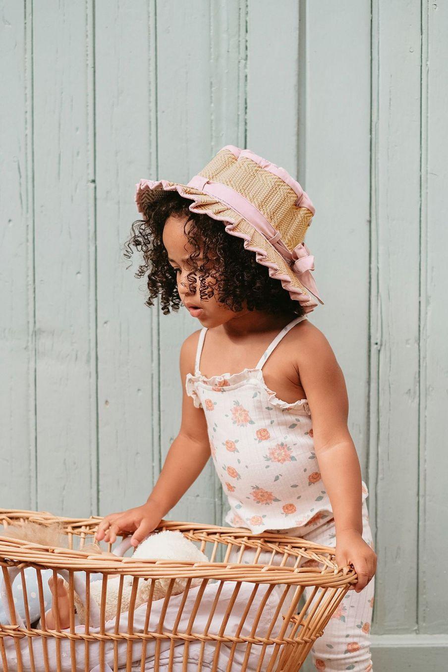 boheme chic vintage chapeau bébé fille capri sumatra