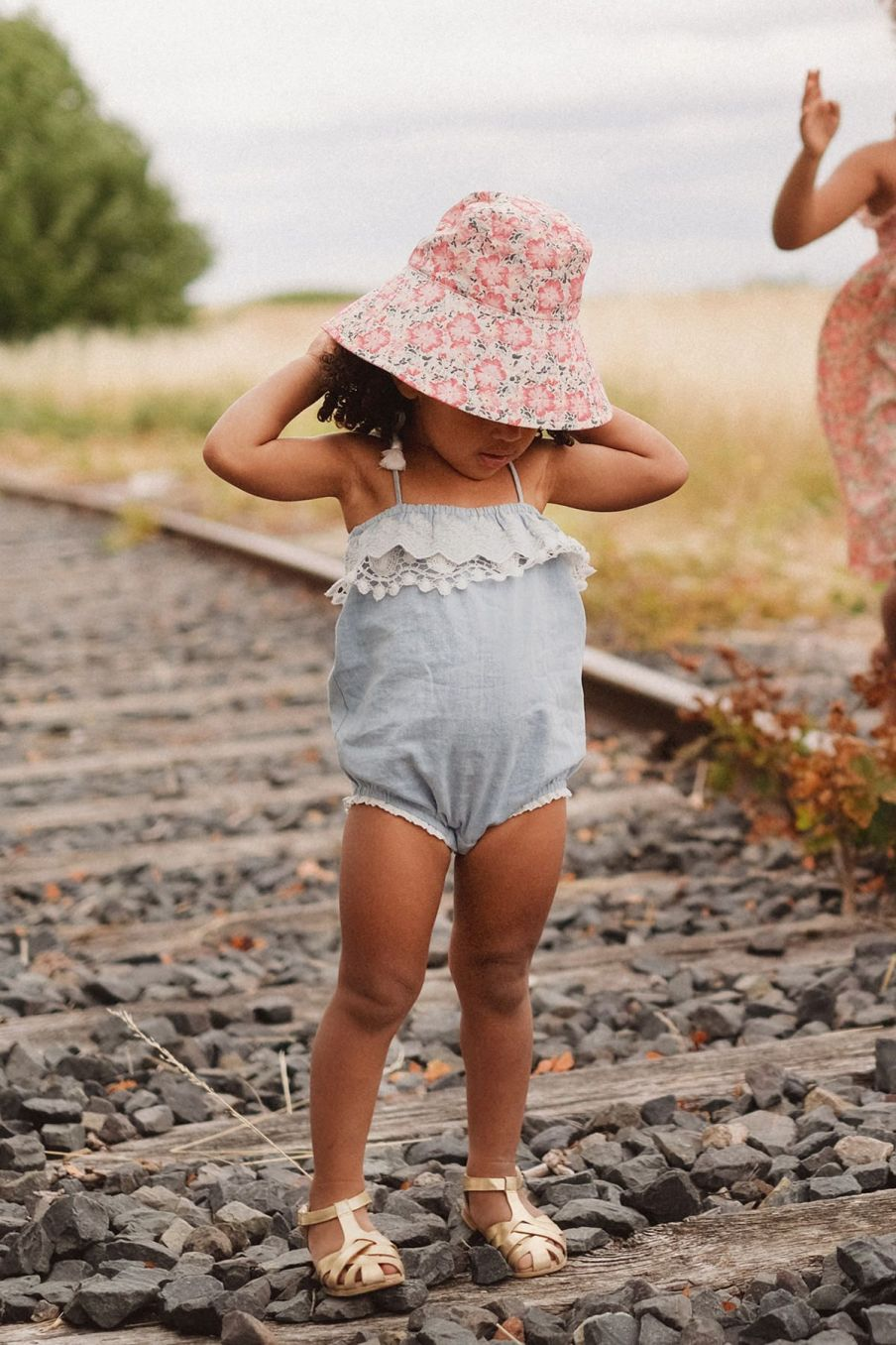 boheme chic vintage chapeau bébé fille lagik pink meadow