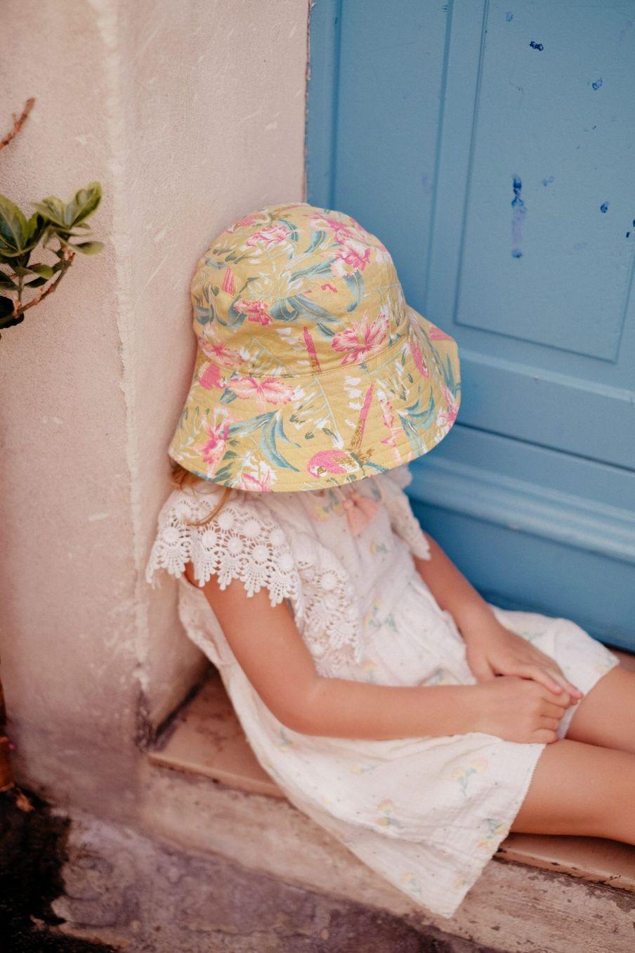 boheme chic vintage chapeau fille lagik soft honey parrots