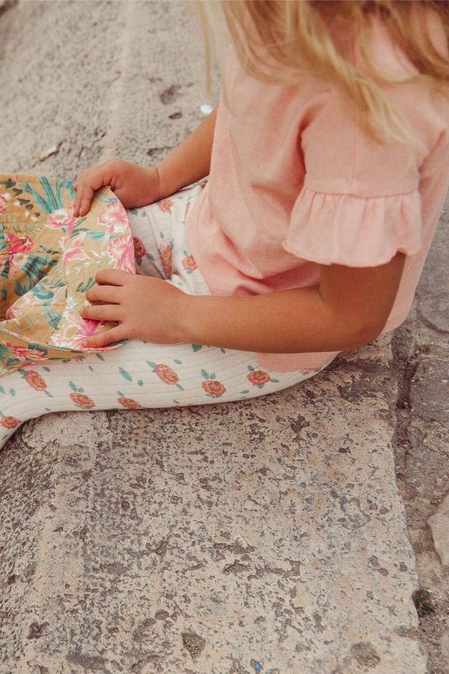boheme chic vintage t-shirt fille asibey corail