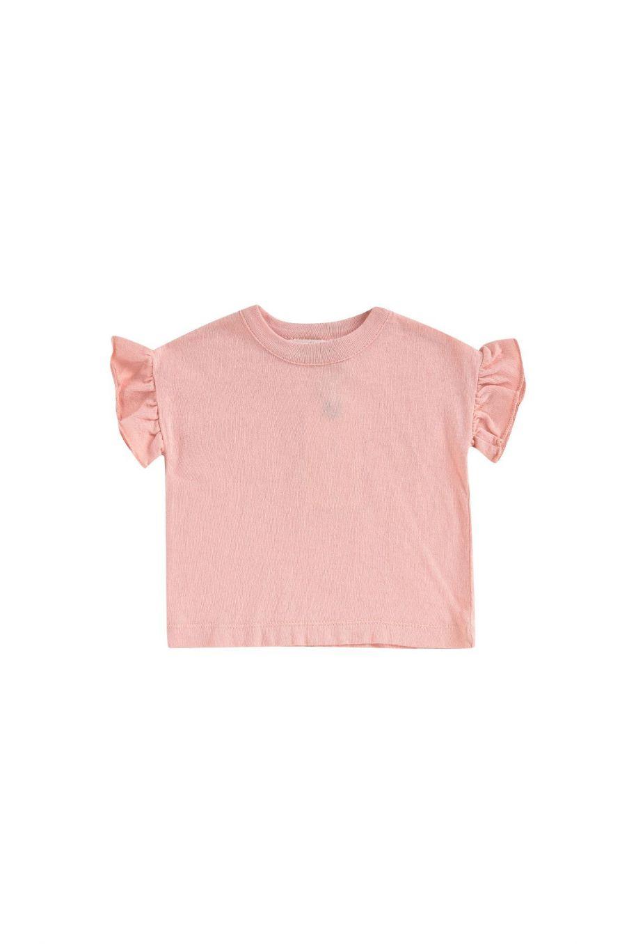 boheme chic vintage t-shirt bébé fille asibey corail