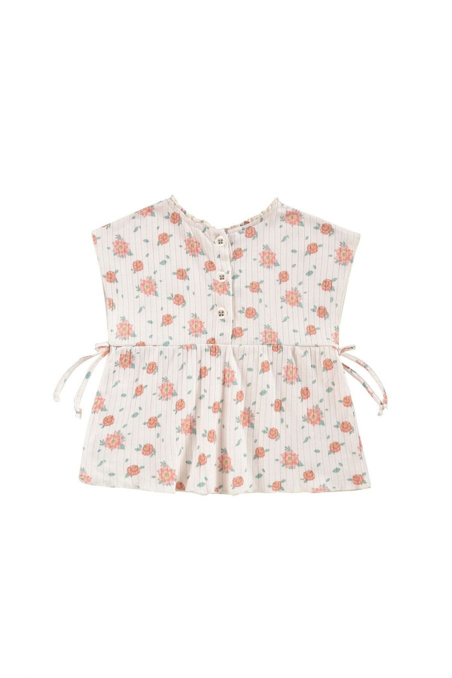 boheme chic vintage top fille angika off-white flowers