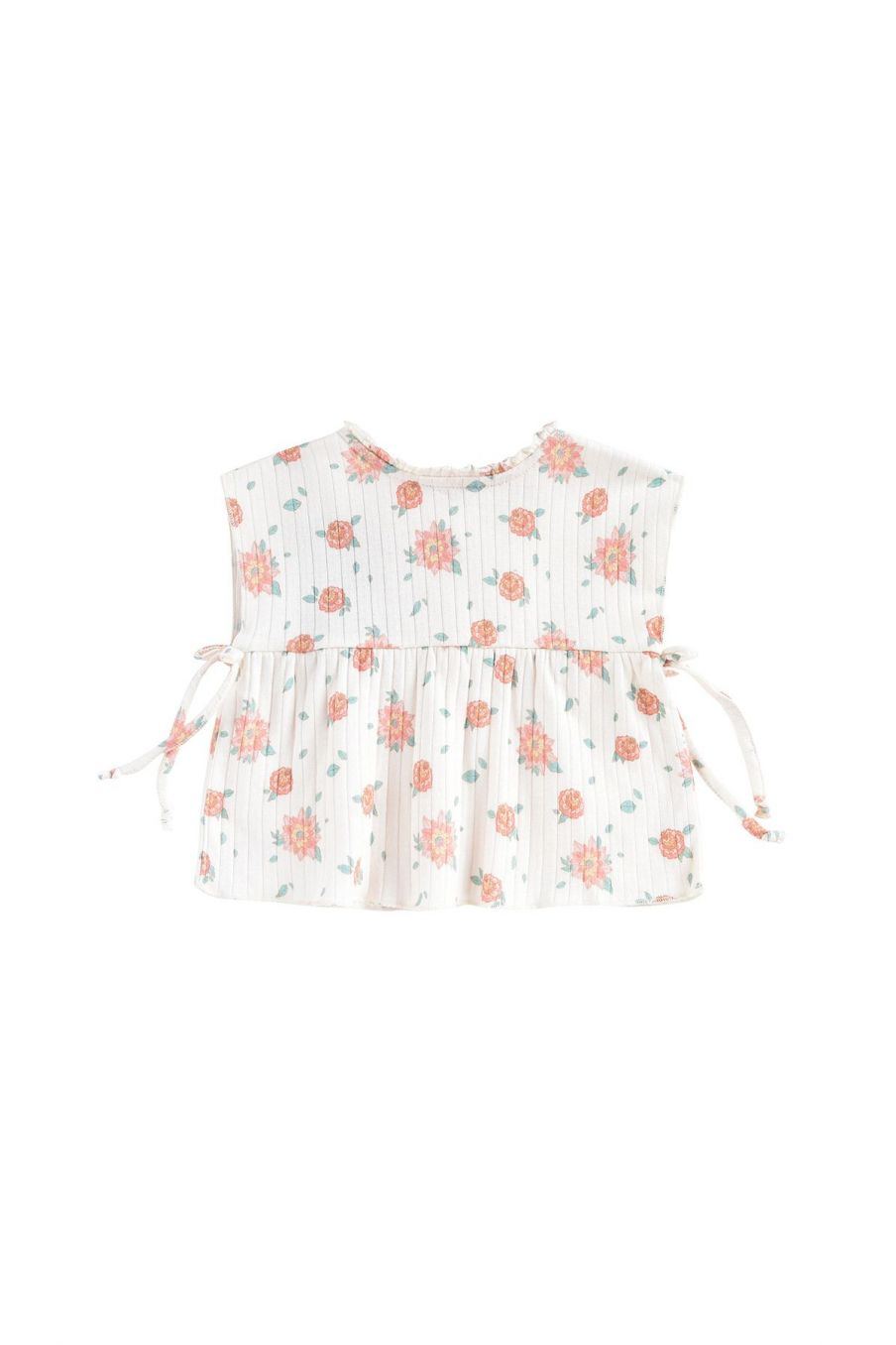 boheme chic vintage top bébé fille angika off-white flowers