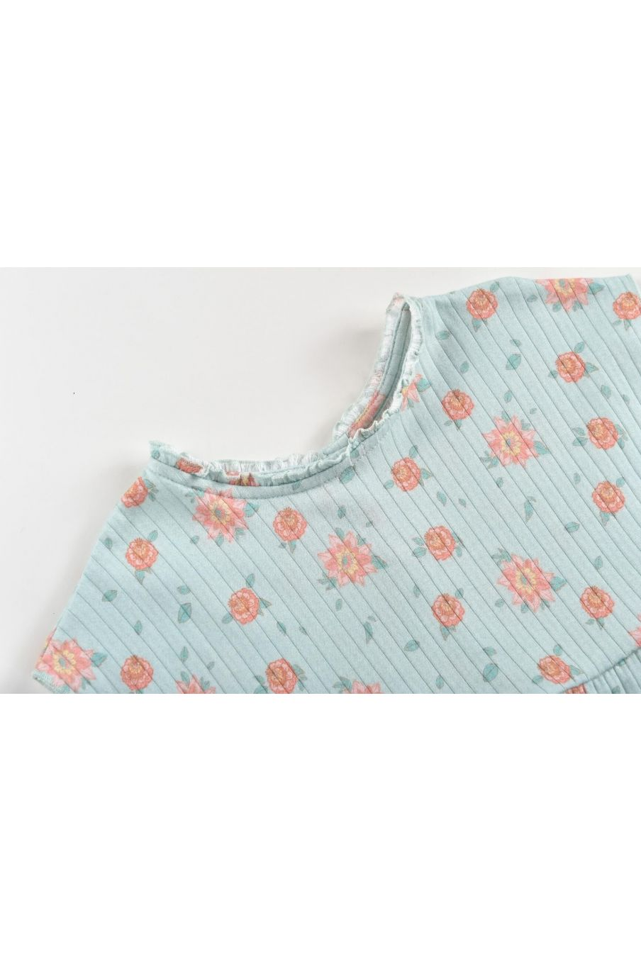 boheme chic vintage top fille angika vintage blue flowers