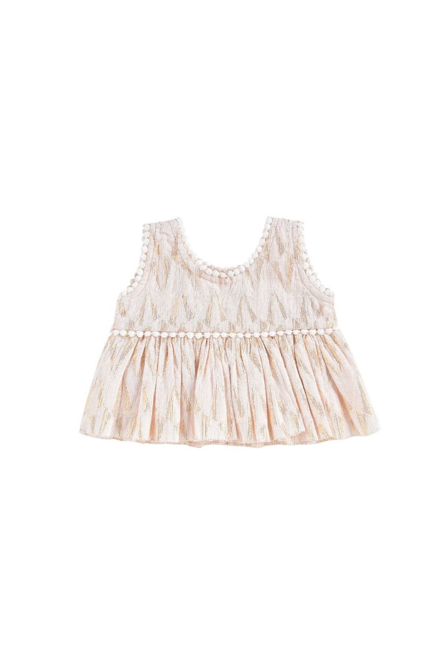boheme chic vintage top bébé fille lomedeo blush psyche lurex