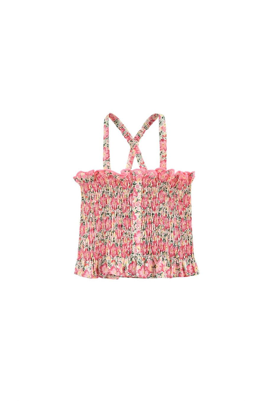 boheme chic vintage top fille malika pink meadow