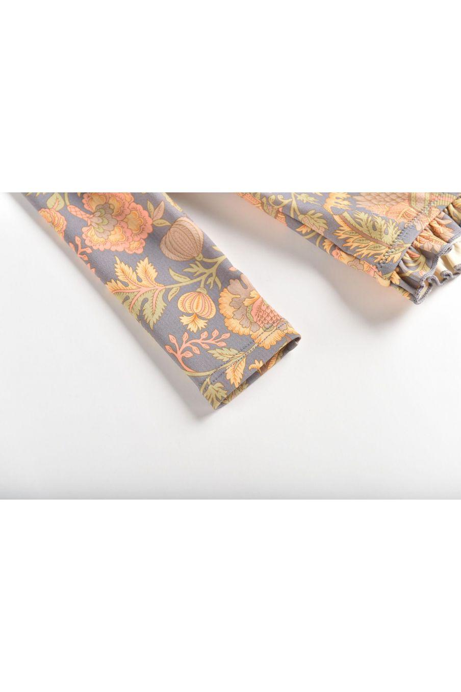 boheme chic vintage set de protection uv bébé fille aurelie grey california flowers