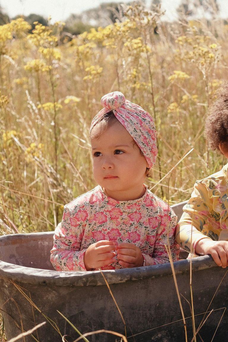 boheme chic vintage set de protection uv bébé fille aurelie pink meadow