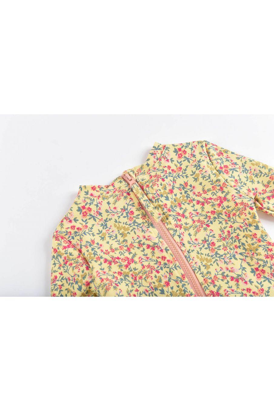 boheme chic vintage set de protection uv fille aurelie soft yellow spring flowers