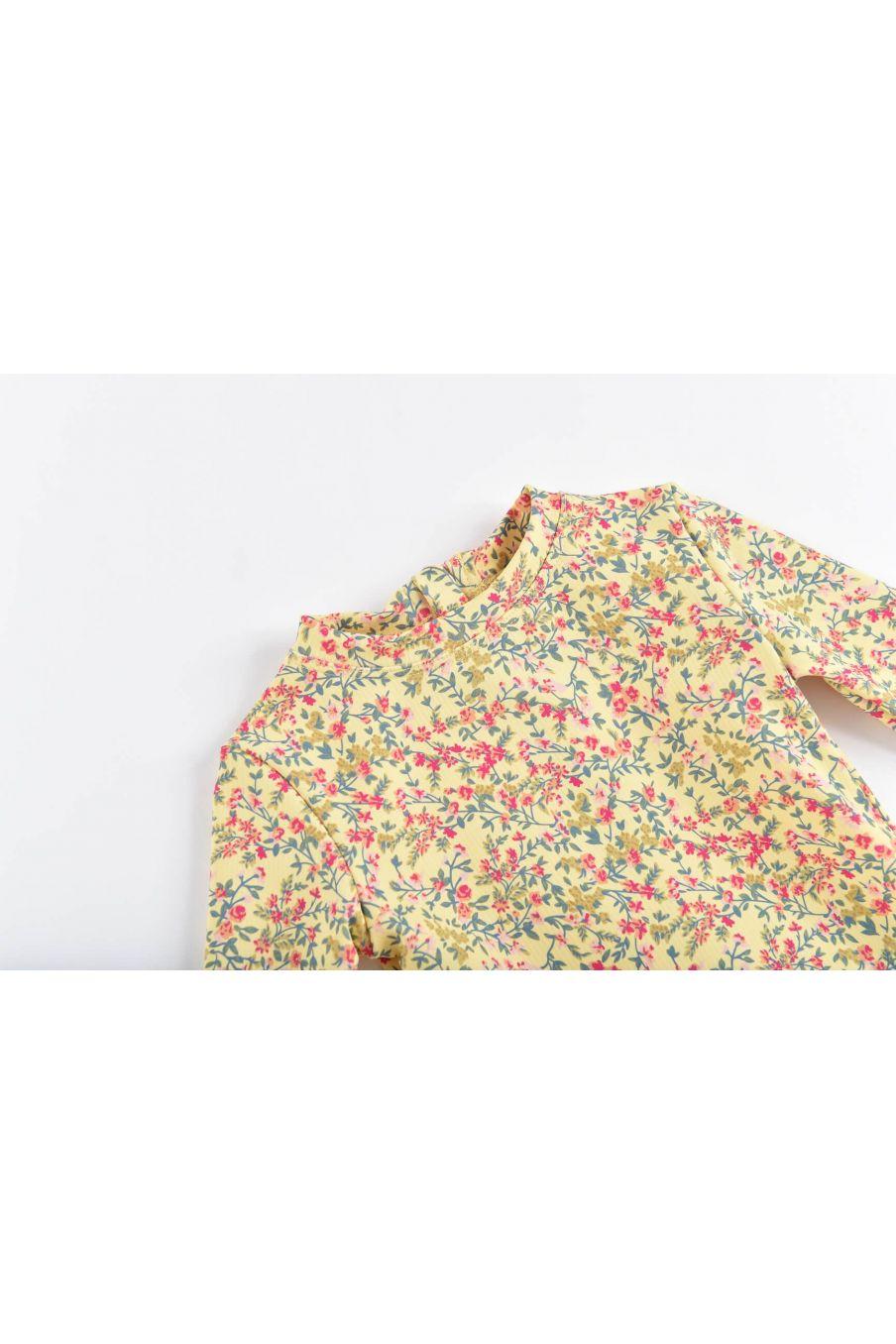 boheme chic vintage set de protection uv bébé fille aurelie soft yellow spring flowers