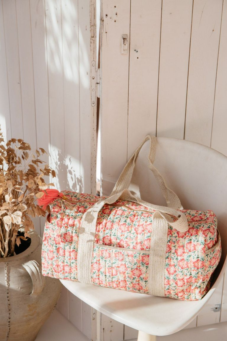 boheme chic vintage sac 24heures maison vaeva pink meadow