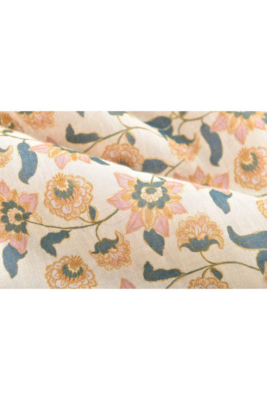 boheme chic vintage turbulette bébé fille masha cream flowers
