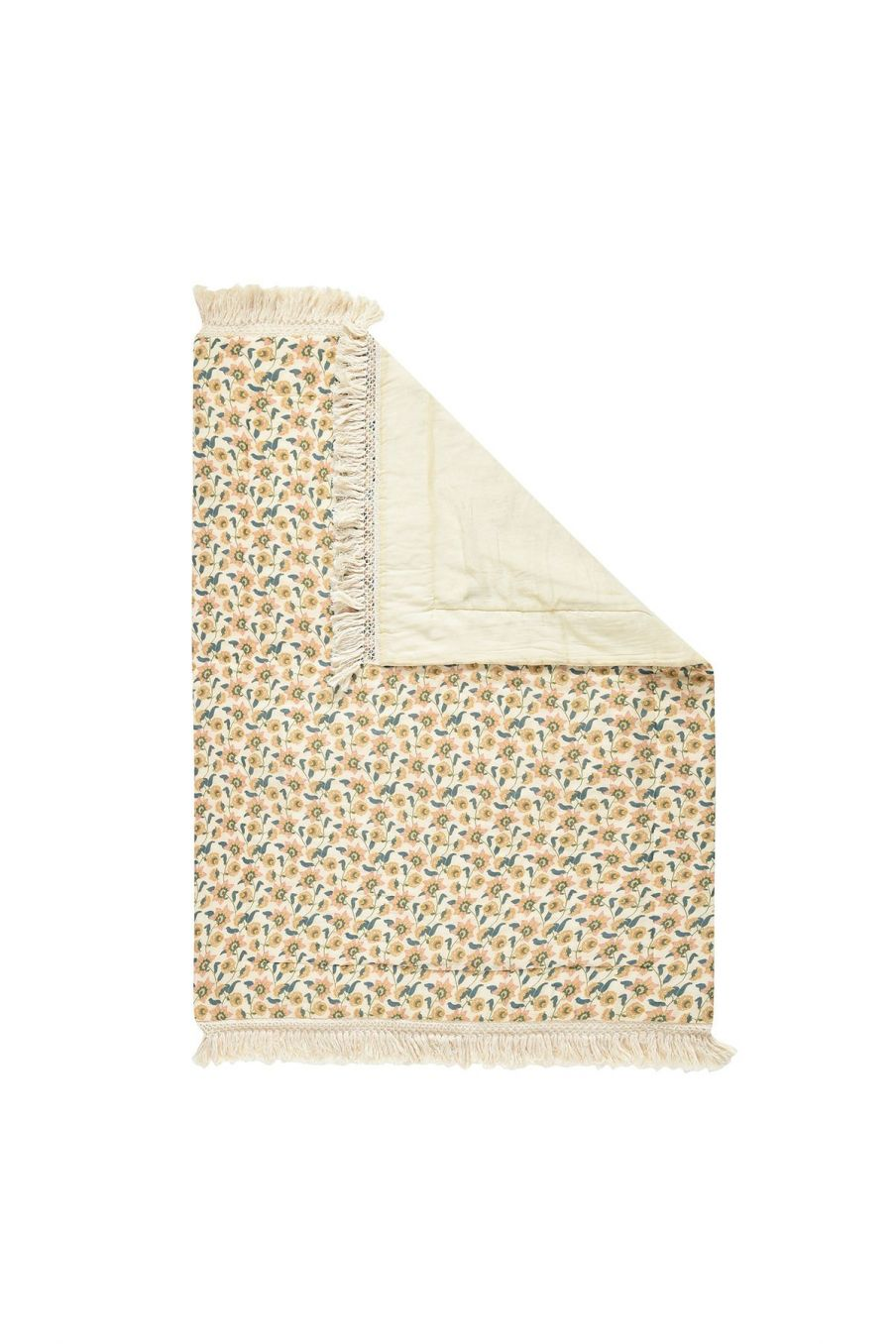 boheme chic vintage petit plaid maison enoha cream flowers