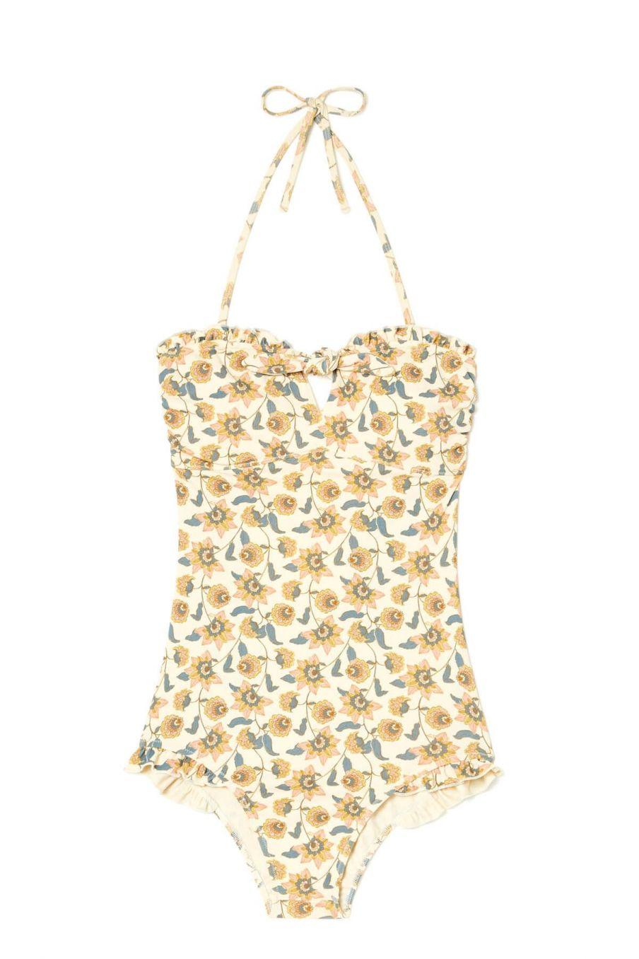 boheme chic vintage maillot de bain femme bayo cream flowers