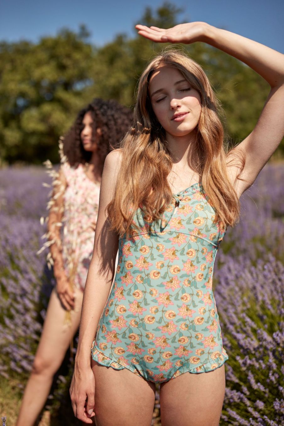 boheme chic vintage maillot de bain femme bayo turquoise flowers
