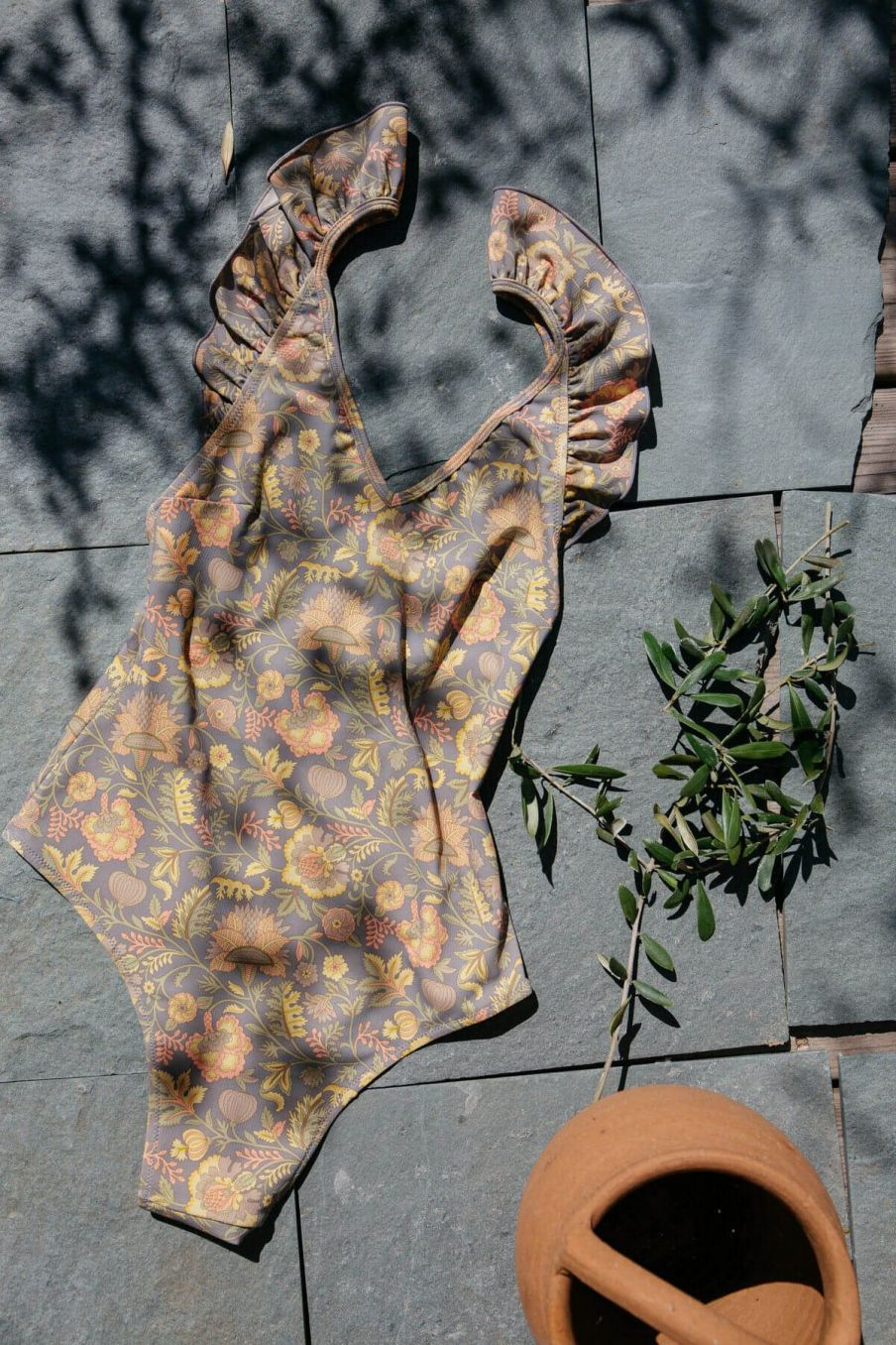 boheme chic vintage maillot de bain femme reva grey california flowers