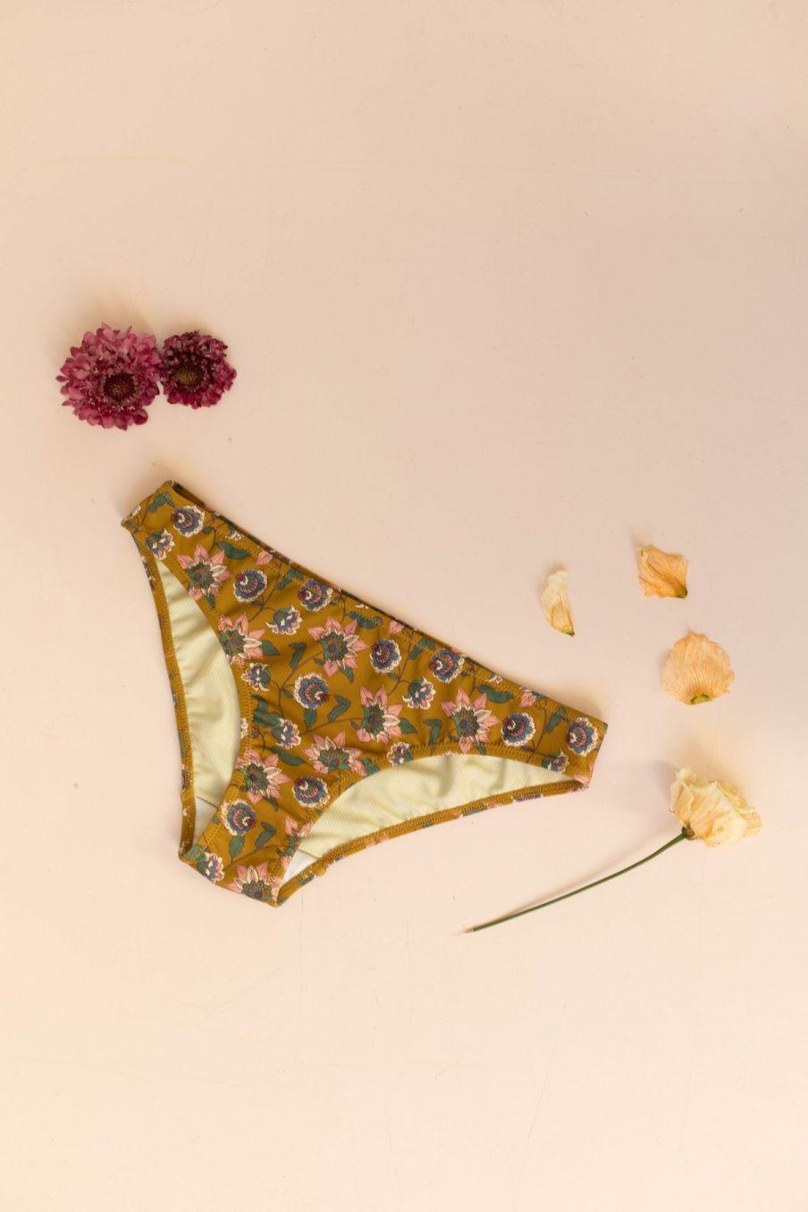 boheme chic vintage bas de maillot femme creek cinnamon flowers