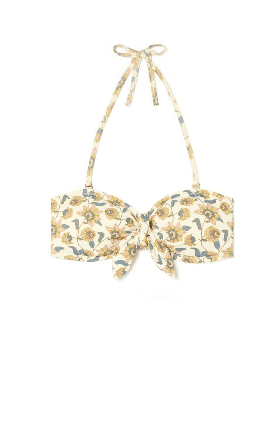 boheme chic vintage haut de maillot femme walnut cream flowers