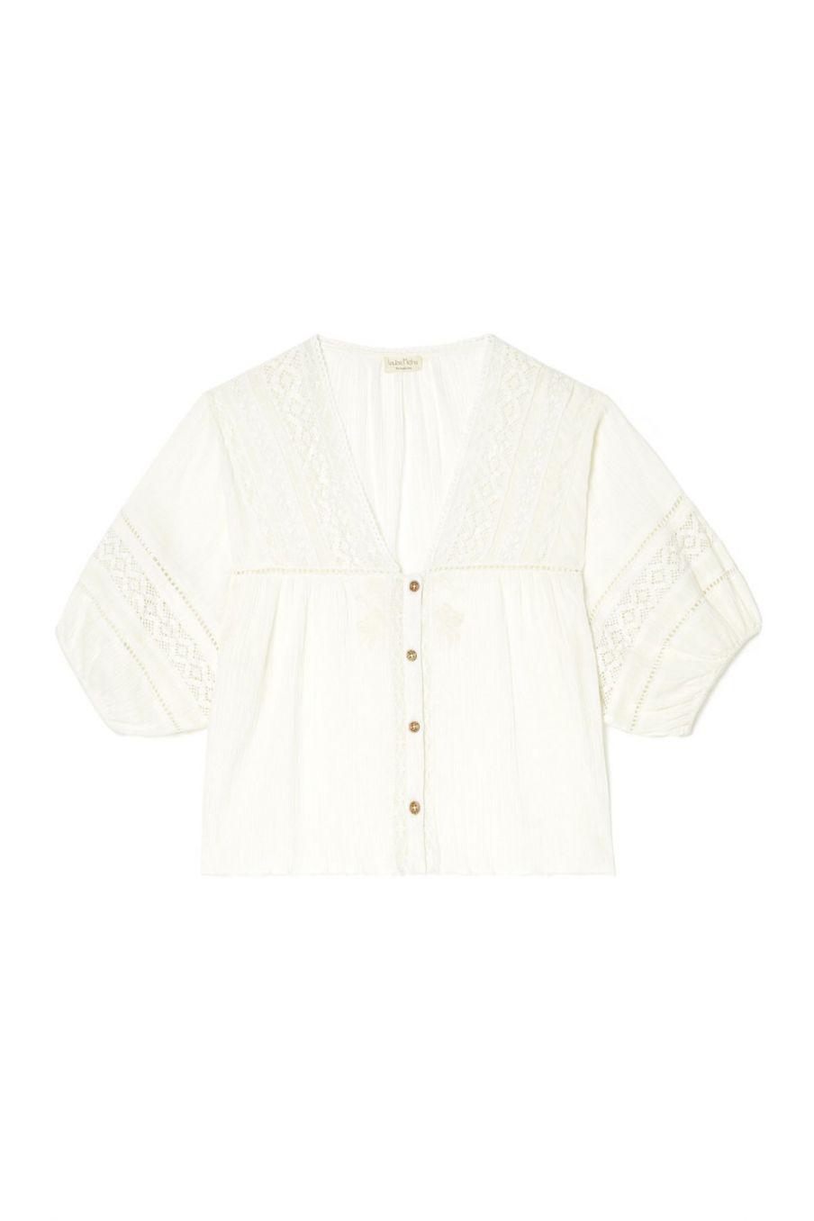 boheme chic vintage blouse femme amara ecru
