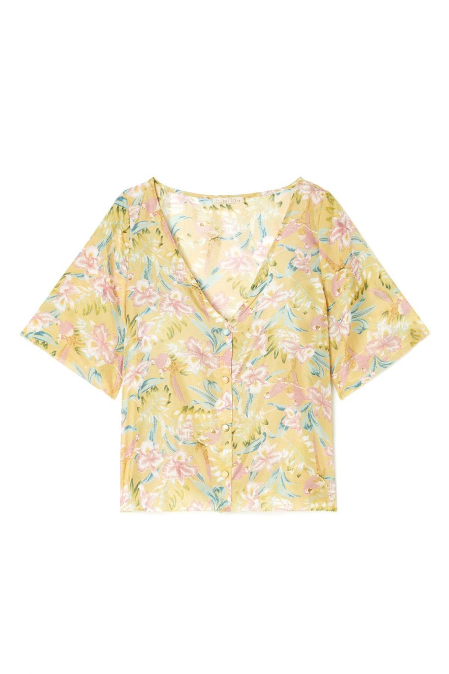 boheme chic vintage blouse femme goyava soft honey parrots