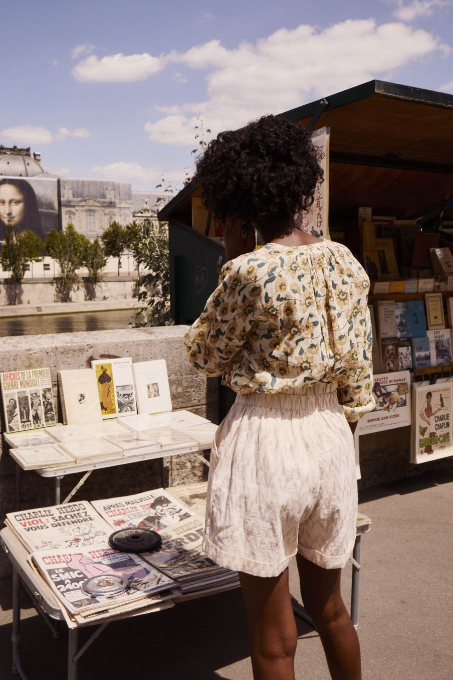 boheme chic vintage blouse femme jay cream flowers