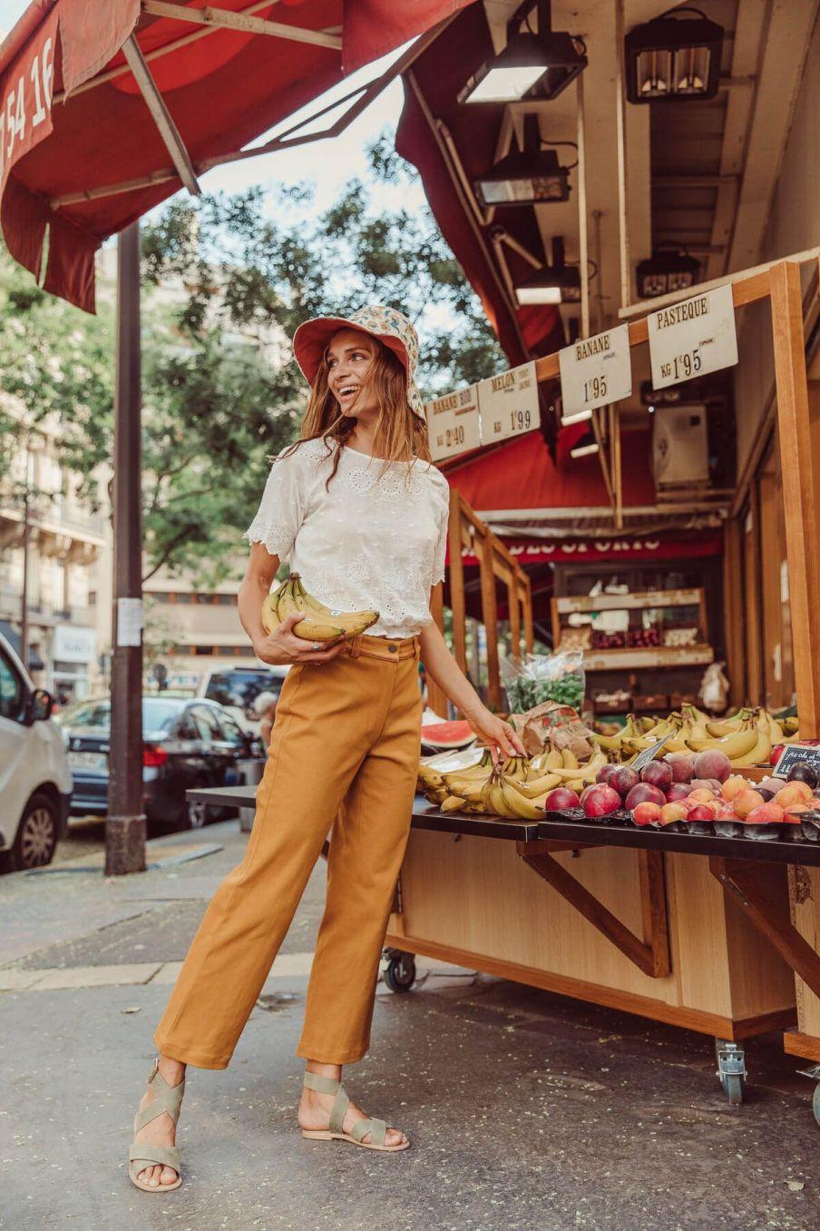 boheme chic vintage blouse femme lina off-white plumetis