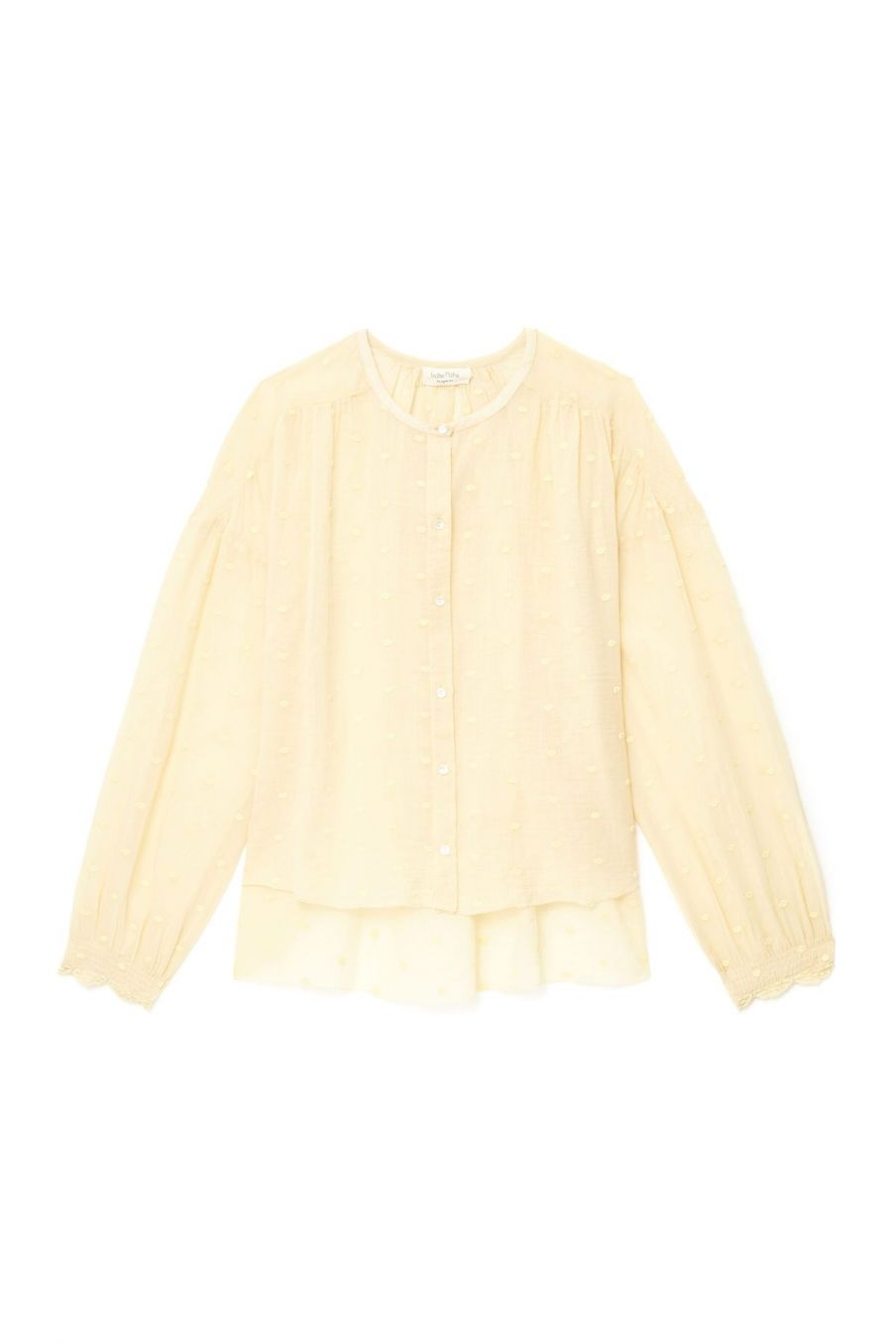 boheme chic vintage blouse femme loray soft honey plumetis