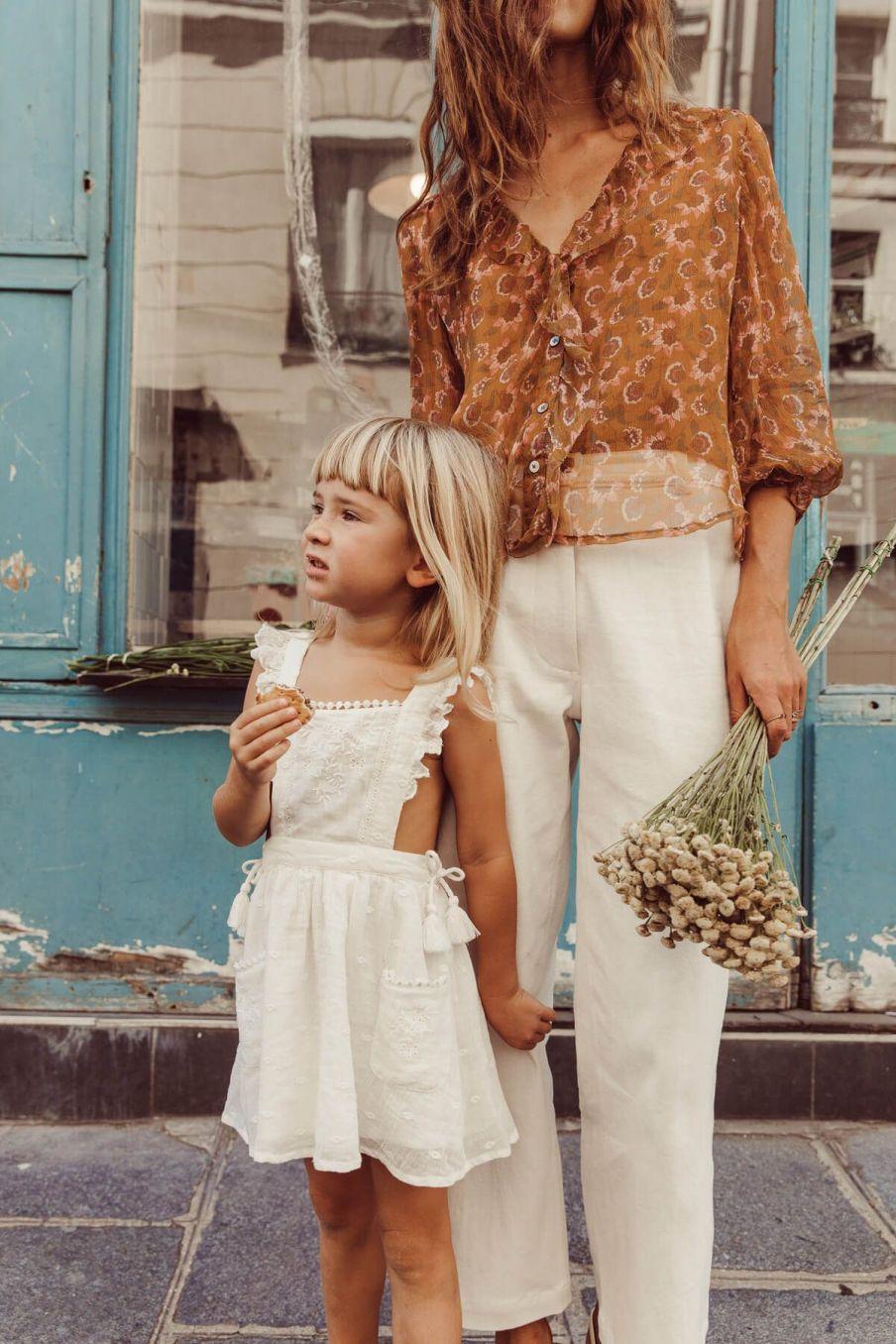 boheme chic vintage blouse femme lorine cinnamon flowers