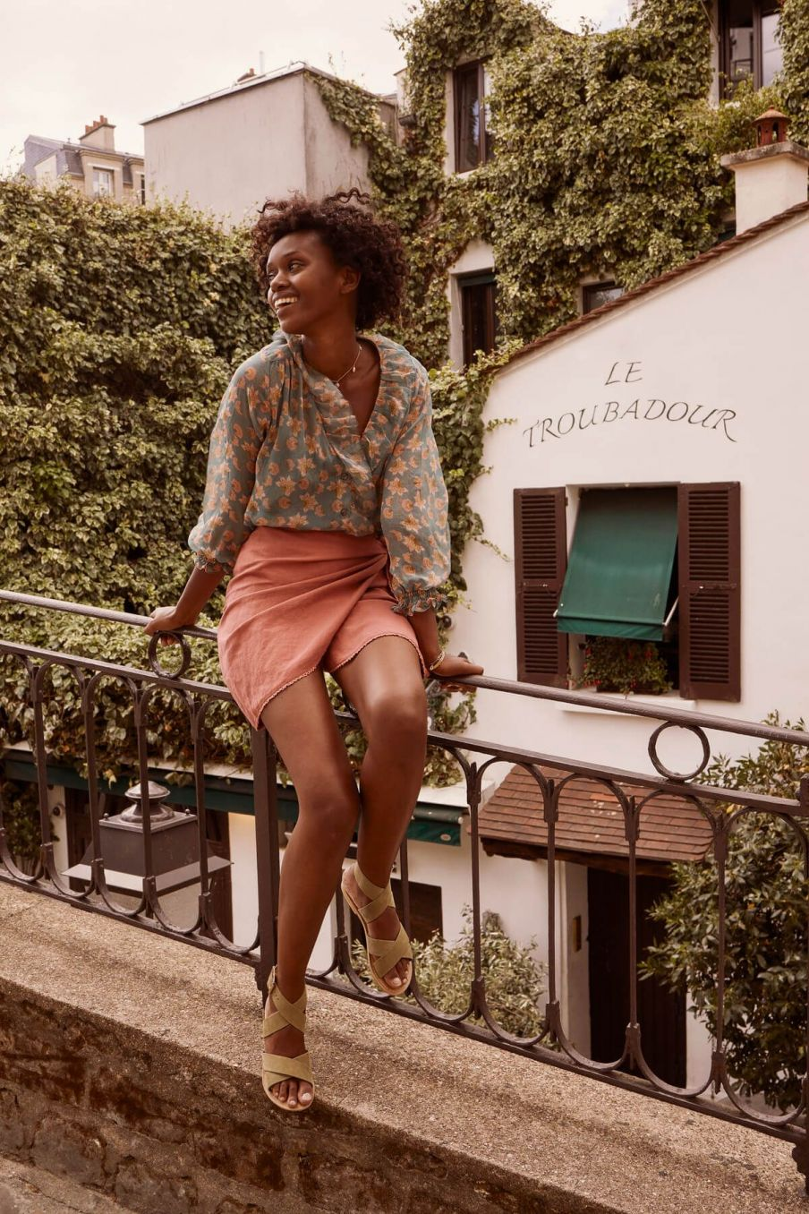 boheme chic vintage blouse femme lorine storm flowers
