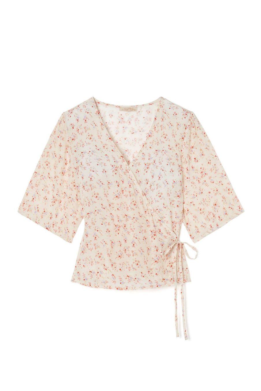 boheme chic vintage blouse femme roseville cream blossom